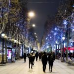 Illumination sur les Champs Elysees - Paris - 06/01/2015