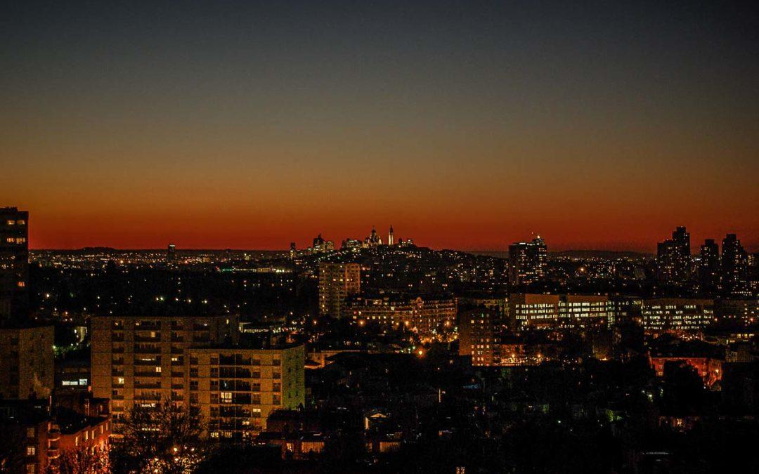 Paris et Montmartre vus des Lilas