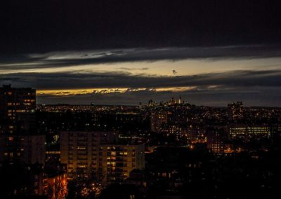 Montmartre et la Défense en début de nuit©JulienBarret