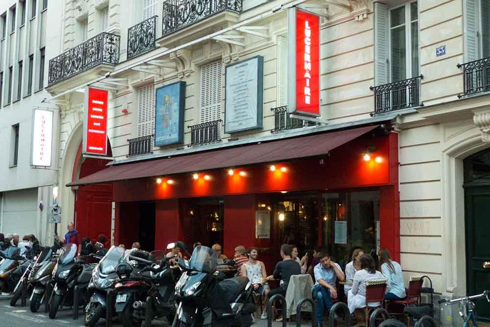 L'entrée du Cinéma et théâtre  du Lucernaire D.R.