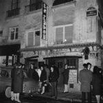 """Le cabaret """"Le Tabou"""", rue Dauphine. Paris, 1963."""
