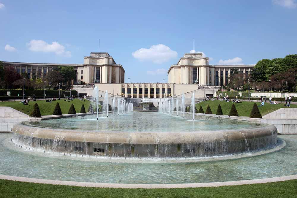 Vue sur le Palais de Chaillot depuis les jardins du Trocadéro @Patrick Berger