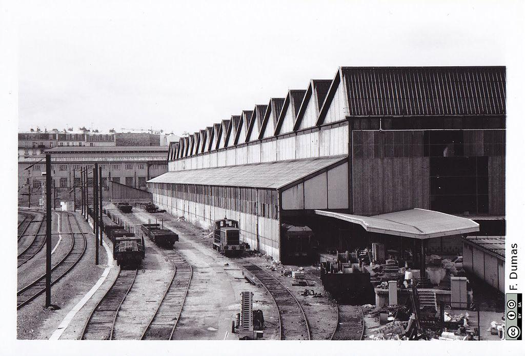 La Halle Pajol depuis le pont Riquet par Frédéric Dumas