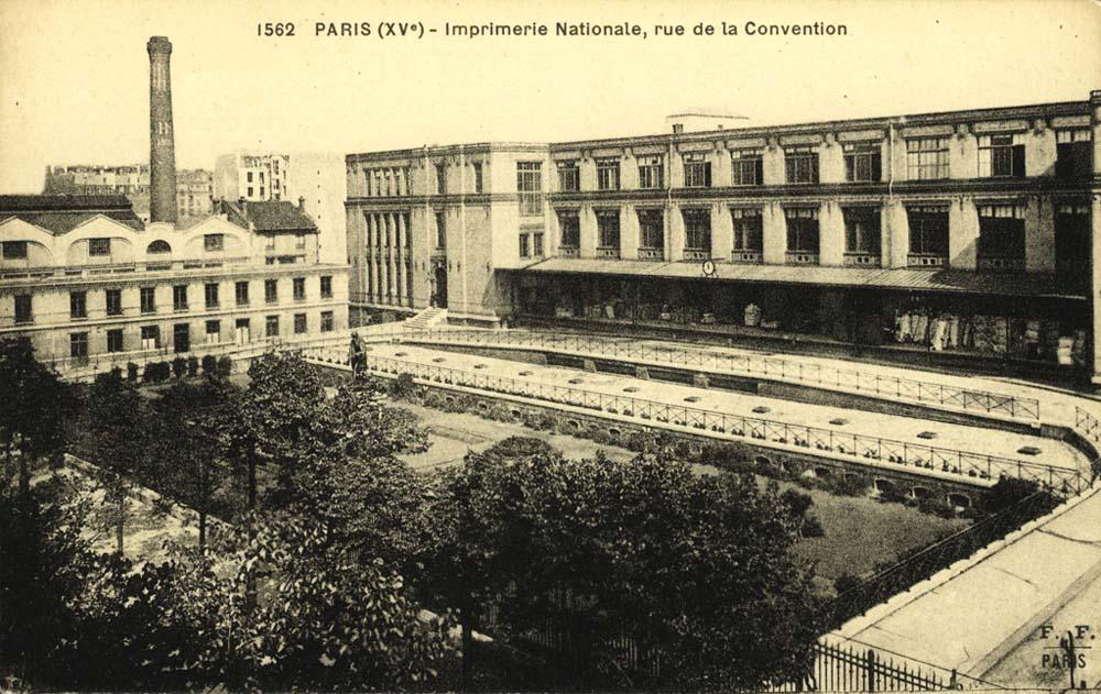 Imprimerie nationale façade sur paris15histoire.com