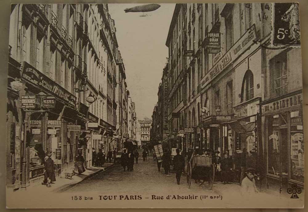 La-rue-d'Aboukir-en-1910-La-Clairière