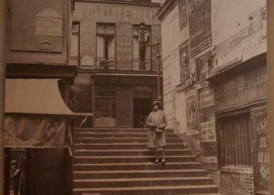 La-rue-des-Degrés-depuis-la-rue-de-Cléry,-vers-1930-La-Clairière