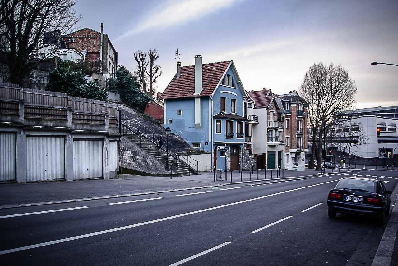 escalier du bd Sérurier par Julien Barret