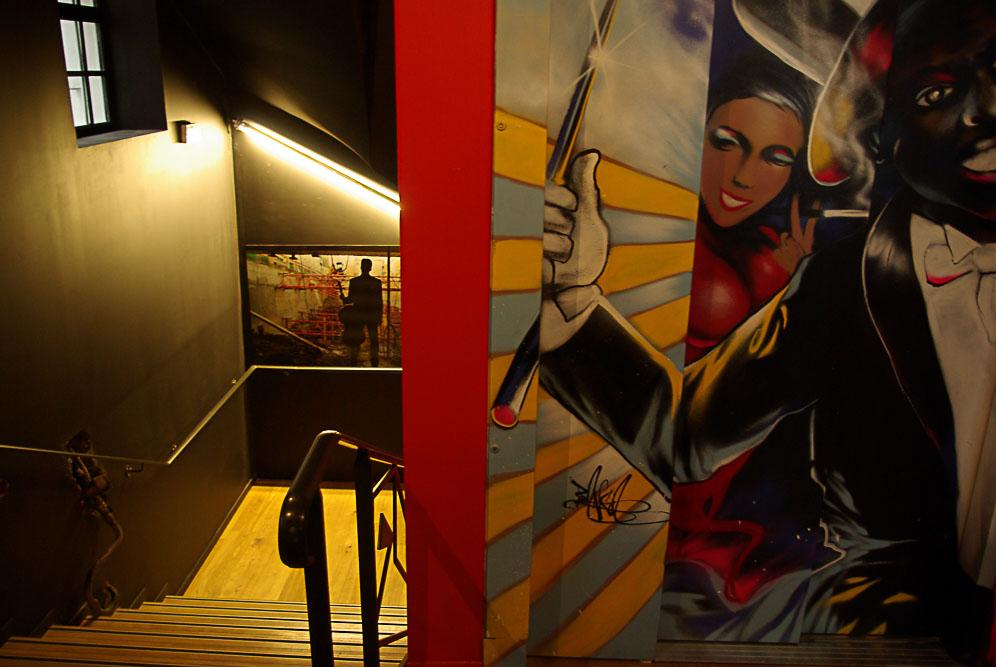 ascenseur et escalier du bal Blomet