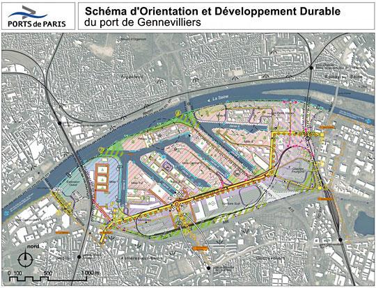 plan du port de Gennevilliers @ Ports de Paris