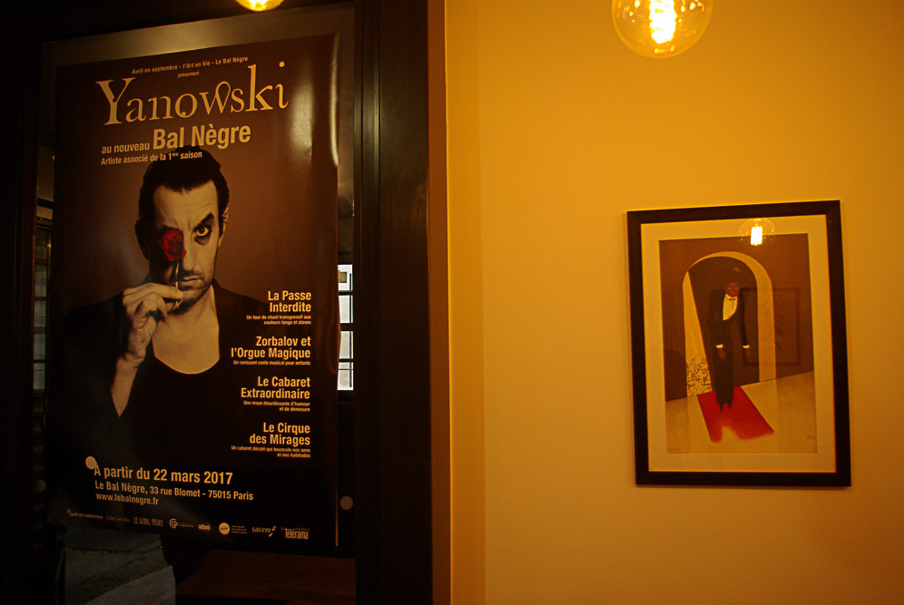 Affiche de Yanowski au bal Blomet par Julien Barret