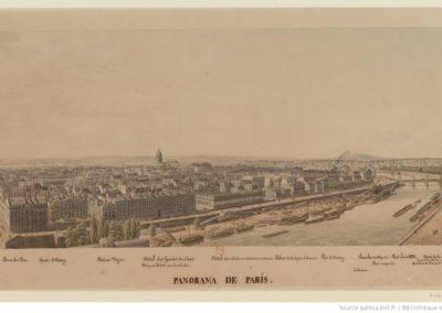 Panorama de Paris. N°3. [Du Pont Royal au Quai de la Conférence] - [dessin]