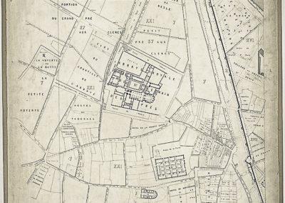 Histoire topographique et arch+®ologique de l'ancien Paris _ Plan de restitution, feuille IX par Lenoir et Berty ; J. Sulpis sculps @Gallica