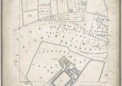 Histoire topographique et arch+®ologique de l'ancien Paris _ feuille XIII par Albert Lenoir et Adolphe Berty ; E. Sulpis sculps @Gallica