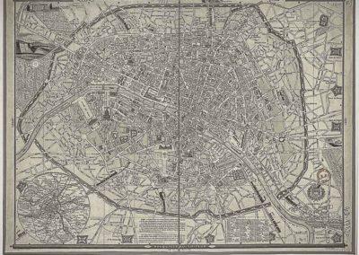 Nouveau plan-guide de Paris et des environs avec les fortifications. Dress+® par Fauchet et Fontet. Grav+® par Henriot @Gallica