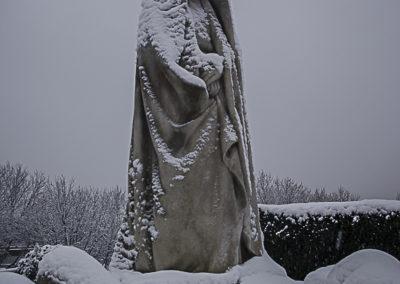 Cimetière des Lilas enneigé 29 par J. Barret