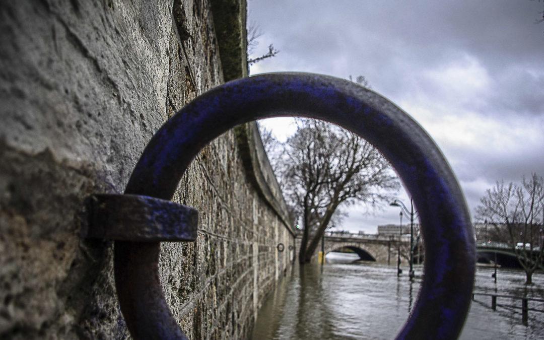 La Seine inondée au Pont de Sully en janvier 2018