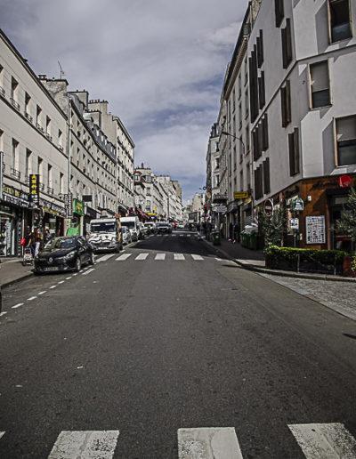 rue de Belleville en montée par J Barret