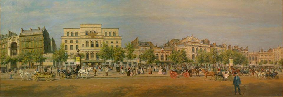 Peinture réalisée en 1862 par A.-P. Martial @Musée Carnavalet, Roger-Viollet