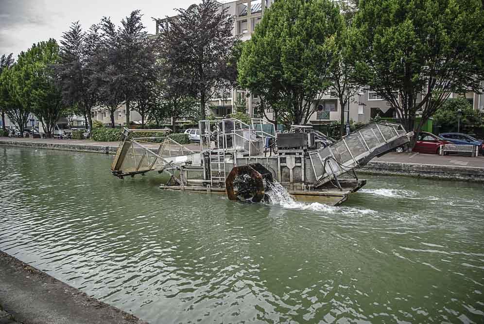 passerelle flottante mobile par J Barret