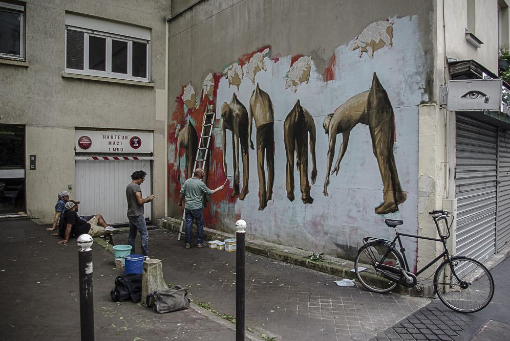 Flokicol Philippe Hérard et leurs potes rue des Couronnes par J Barret