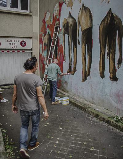 Flokicol et Philippe Hérard rue des Couronnes par J Barret