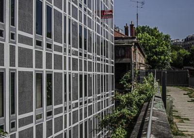 la petite ceinture du 15e, façade par J Barret