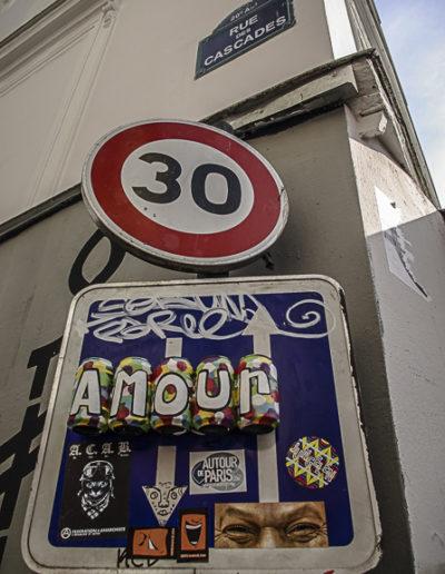 panneau rue des Cascades par J barret