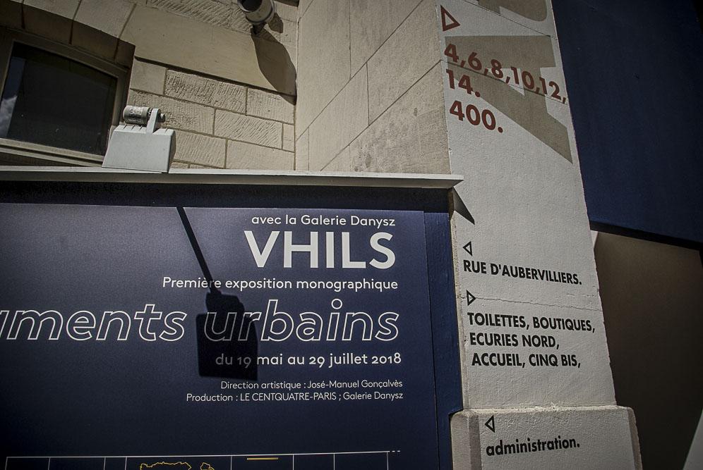 VHILS, exposition Performance Urbaine au 104 par J. Barret-2