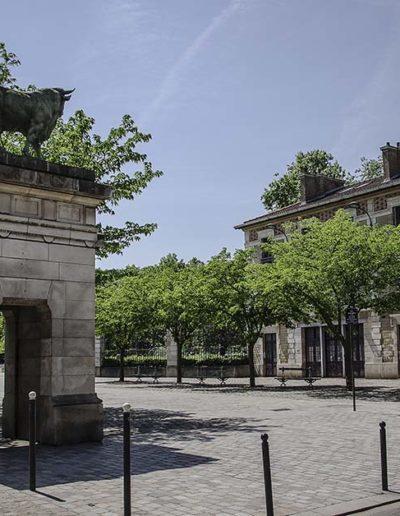 Vue en mai 2018 de l'entrée principale du parc Georges Brassens @J.Barret