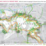 Carte du Parc des Hauteurs par l'IAU IDF