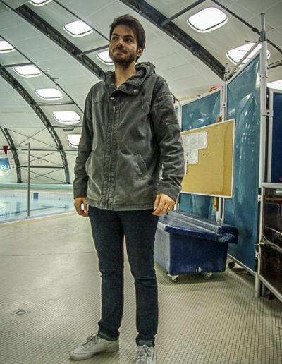 Julien Benyet à l'intérieur de la piscine Tournesol aux Lilas ©J.Barret