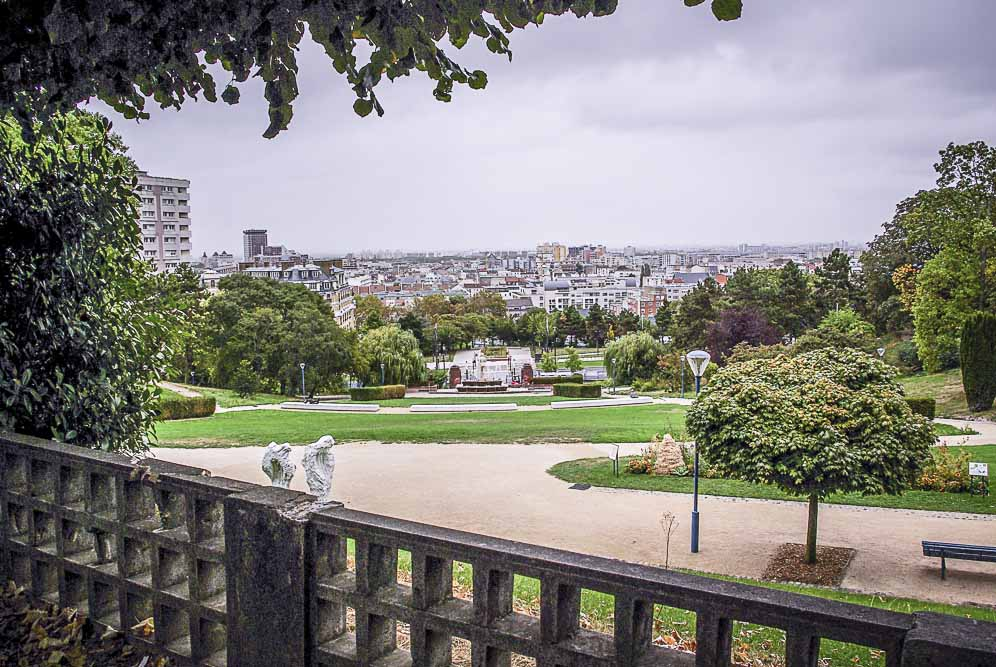 Vue sur le Pré et Pantin depuis le parc de la butte rouge ©J.Barret