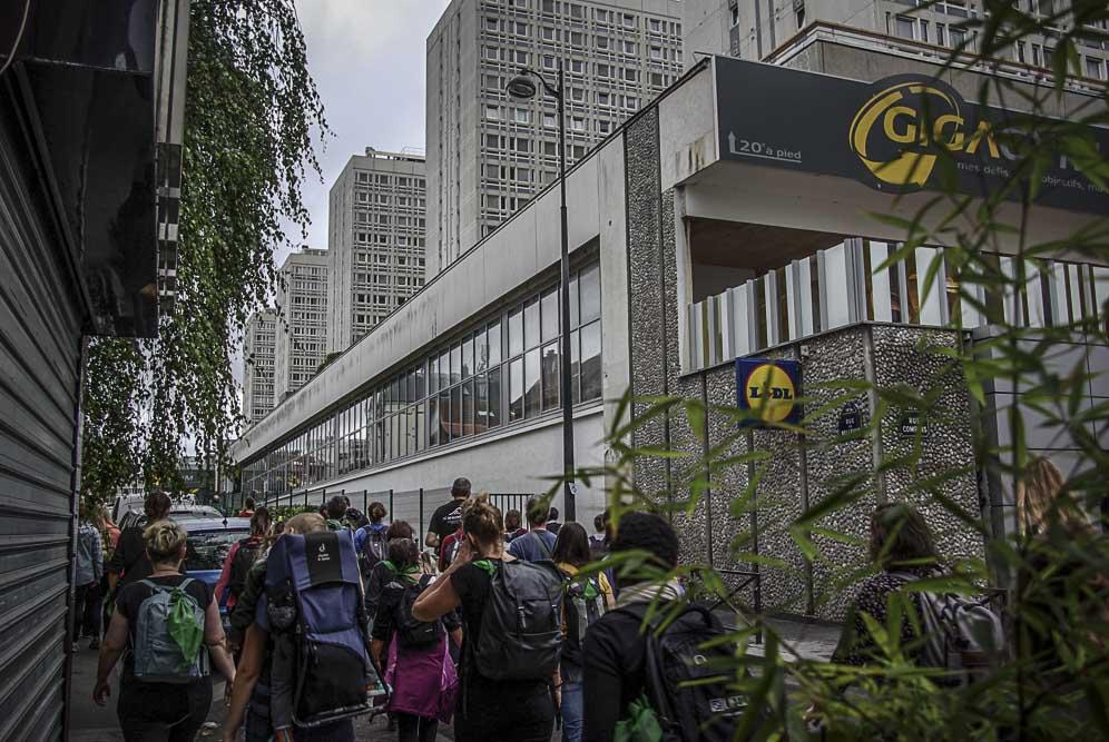 les barres d'immeubles de la rue de Bellevue ©J.Barret