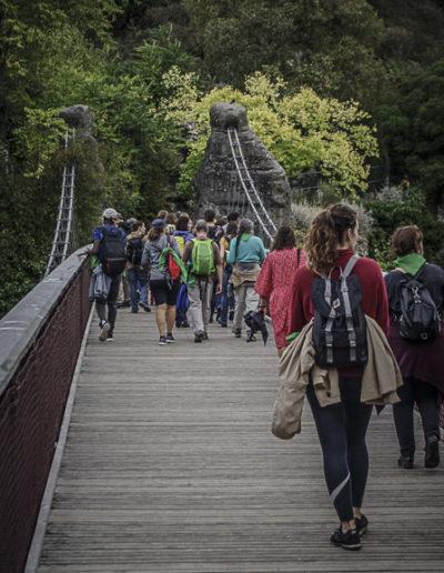 sur le pont suspendu des Buttes Chaumont ©J.Barret