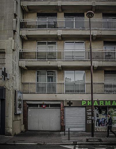 Photographie en avril 2018 du 17 rue de la Croix-Nivert, occupé par un immeuble des années 70 @J.Barret
