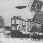 Photographie de la rue Jouvenet prise vers 1910 depuis l'avenue de Versailles ©Parimagine