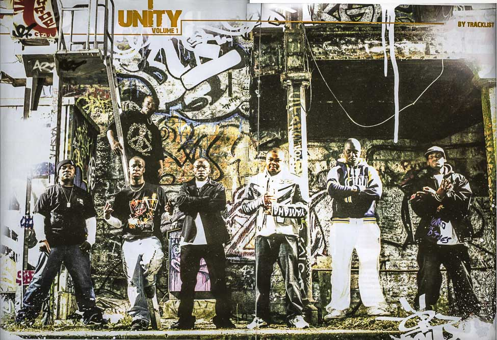 Illustration de Track List de mai-juin 2006 pour la compil Unity vol 1 @photo Myqua