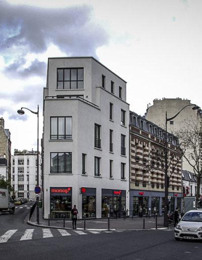 Vue du même angle en mars 2018, l'immeuble ayant été récemment réhabilité ©J.Barret
