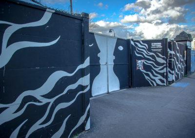 L'entrée du Shakirail, rue Riquet, par J Barret