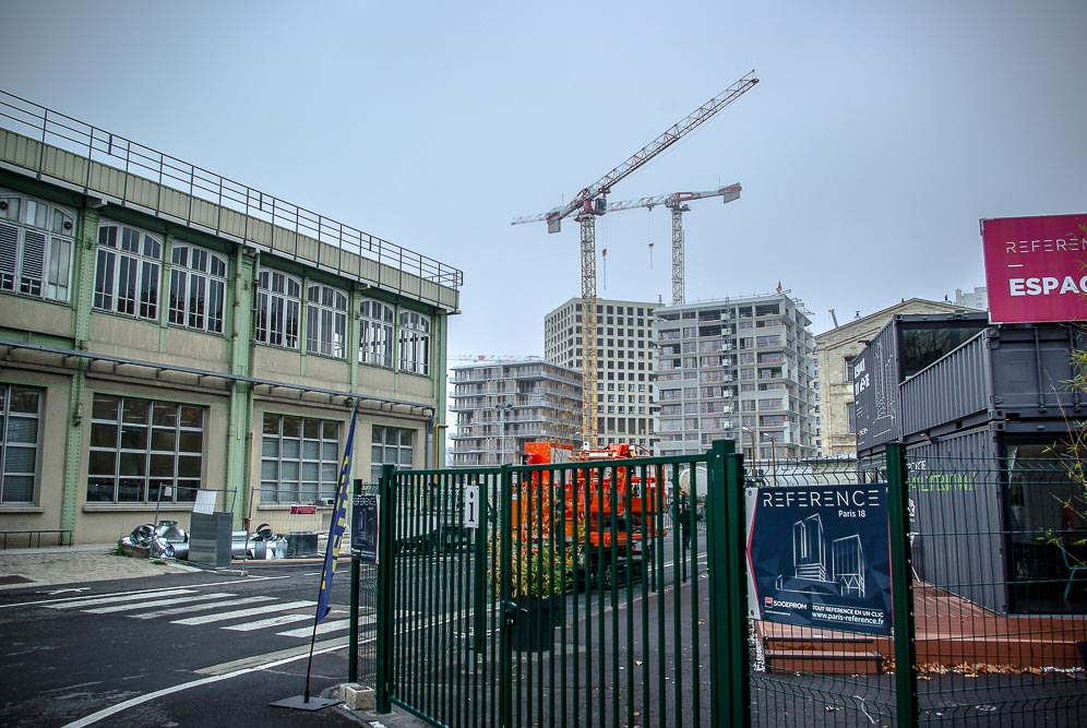 Vue du chantier de la ZAC Chapelle International par J Barret
