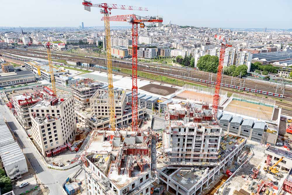 vue aérienne de la Zac Chapelle International (c) Espaces Ferroviaires, Souffle Studio