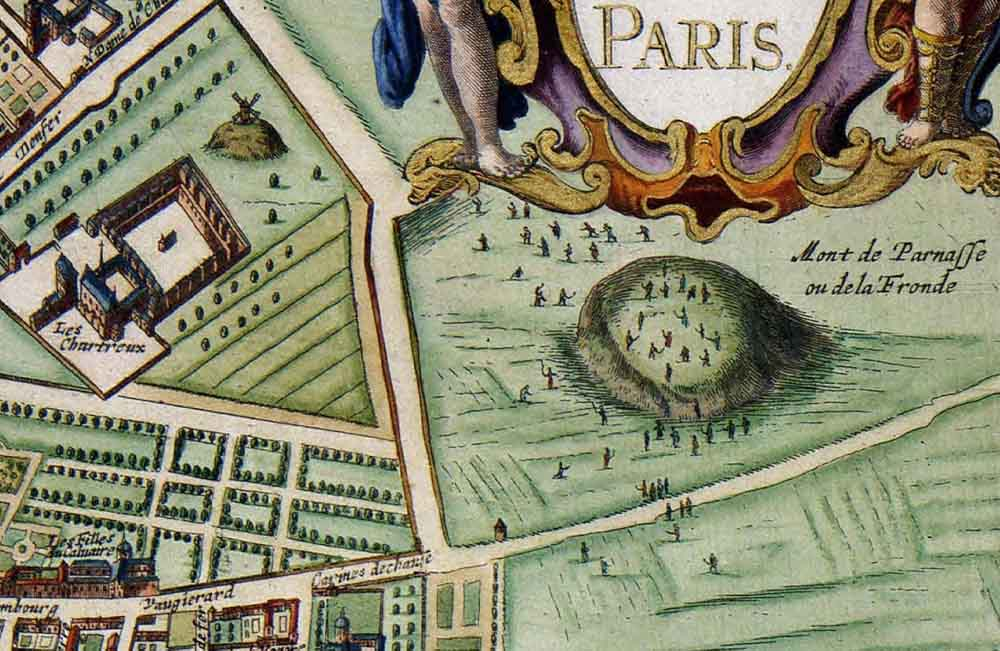 Détails du plan Lutetia Parisiorum vulgo Paris [1682], de Jan Janssonius