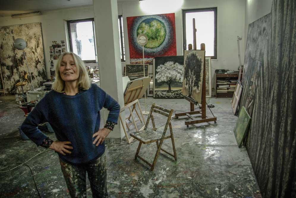 France Mitrofanoff dans son atelier des Frigos par J.Barret
