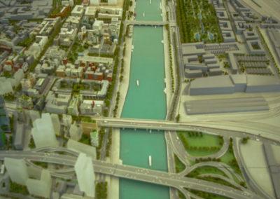 La maquette du quartier Paris Rive gauche dans la maison des projets de la SEMAPA @JBarret