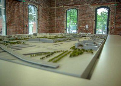 Maquette de Paris Rive gauche dans la maison des projets de la SEMAPA @JBarret