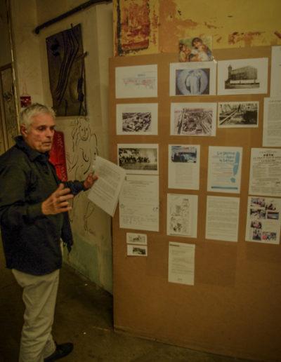 Mur d'information sur les Frigos créé par JP Réti @autourdeparis