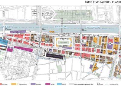 Plan de l'opération Seine Rive Gauche par la Semapa
