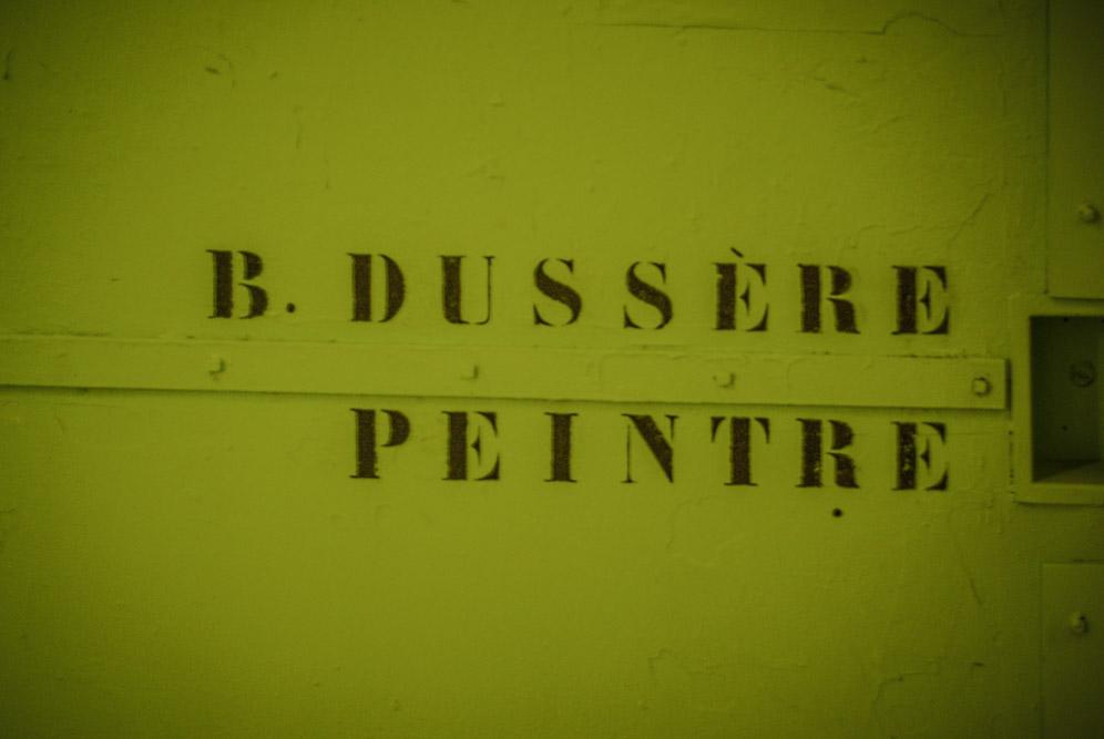 Porte de l'atelier de Bénédicte Dussère aux Frigos par J.Barret