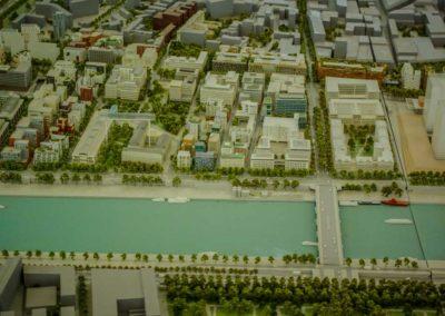 Zoom sur le quartier des Frigos sur la maquette de Paris Rive gauche de la SEMAPA @JBarret