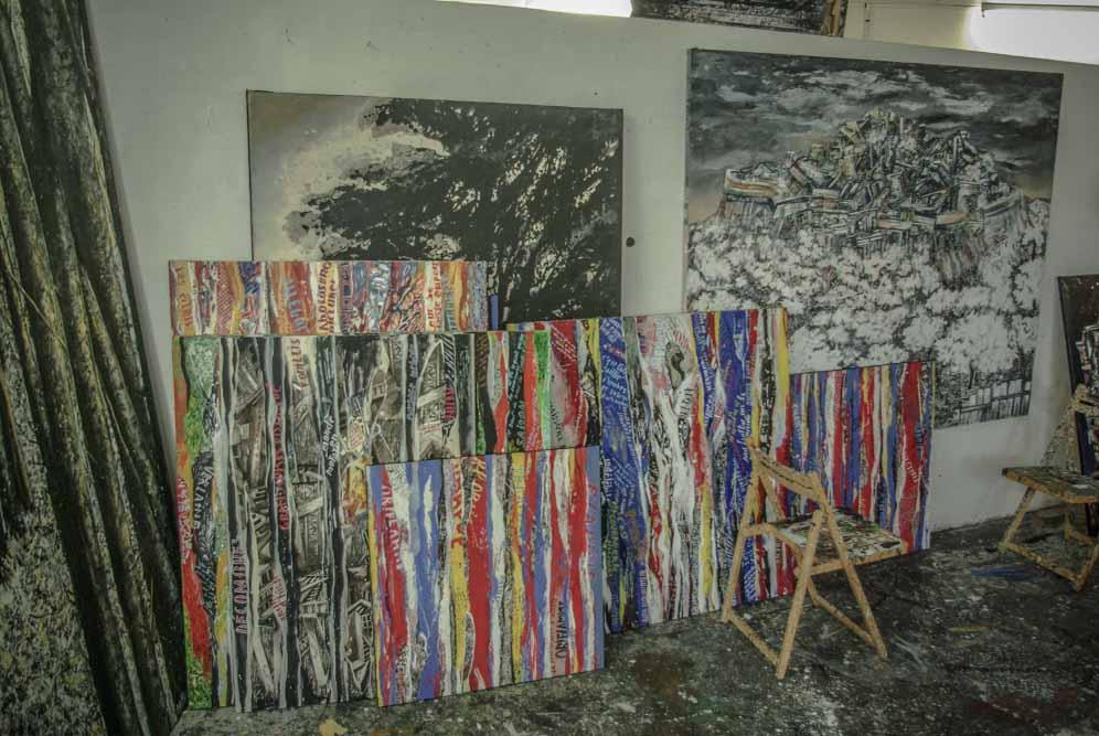 quelques oeuvres dans l'atelier de France Mitrofanoff par J.Barret